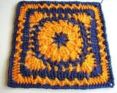 PDF... AUTUMN COLLECTION................Pumpkin Pie 12 Inch Square (Crochet Pattern)