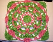 PDF... Spiro Mania (12 Inch Crochet Square Pattern)