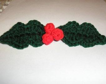 PDF... Holly Berry ... Holiday Crochet Pattern