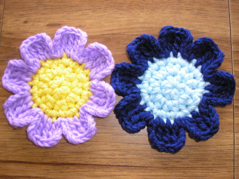 Pretty Petals Flower Coasters Pdf Crochet By