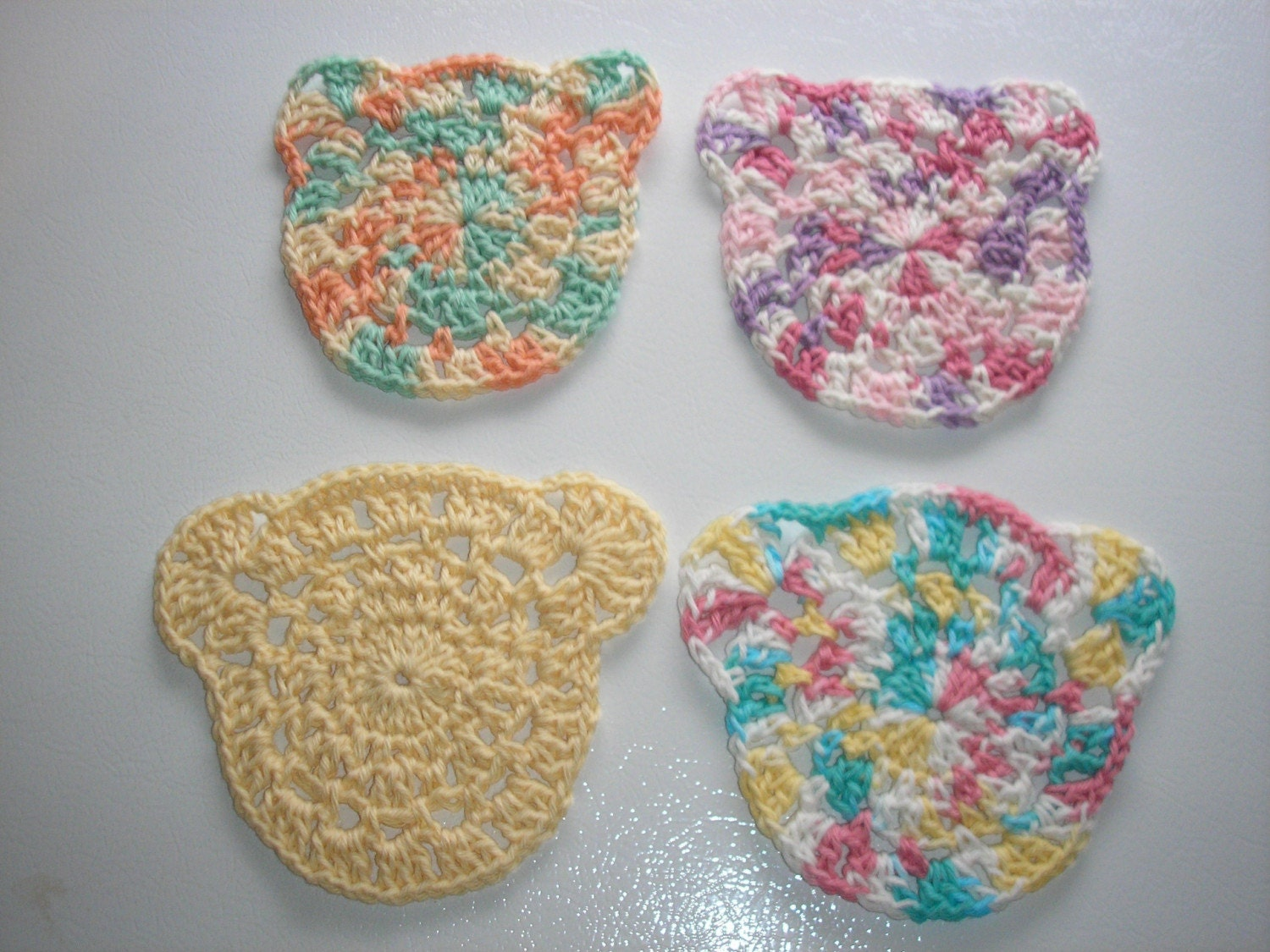 PDF...Teddy Bear And Kitty Baby Washcloth... Crochet Pattern