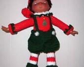 Christmas Crochet Pattern, Hollivy the Elf Doll