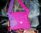 Crochet Pattern, Diagonal Purse