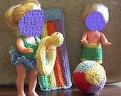 Crochet pattern, Beach Fun for small fashion dolls