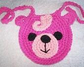 Crochet Pattern, PDF, Baby Bear Bib