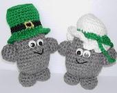 Crochet pattern, Rock People Irish Couple