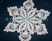 Crochet Pattern, Snowflower Doily