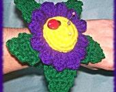 Crochet Pattern, Floral Wrist Pincushion