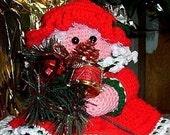 Christmas Crochet Pattern Mrs. Claus Toilet Tissue Cover
