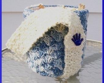 Crochet Pattern, Ice Cream Cozy, Handy Bucket