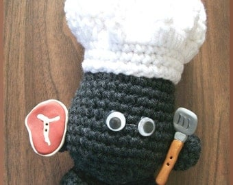 Crochet Pattern,Rock People Chef