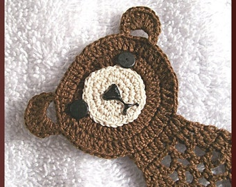 Crochet pattern, Bear and Pig Bookmarks in Thread