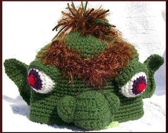 Grumpy Goblin Hat, Crochet Character Hat pattern, PDF
