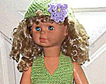 Doll Dress, Crochet Pattern for Walking Dolls
