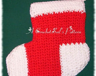 Crochet Pattern, PDF, Christmas Stocking Potholder