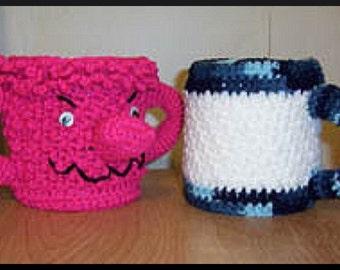 Crochet Pattern, Monster Mug