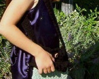 Crochet e-pattern, Witch Hand Bag Purse