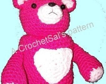 Crochet Pattern,  Teddy Bear Toilet Paper Cover