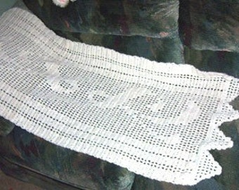 Crochet Pattern, Simply Filet Rectangular Shawl