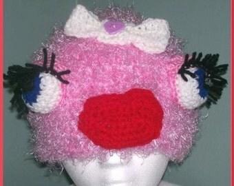 Girly Monster Hat, Crochet Pattern