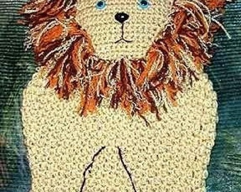 Crochet e-pattern, Lion Stocking, Gift Bag, Pillow