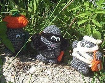 Crochet e-pattern,Rock People Halloween Party