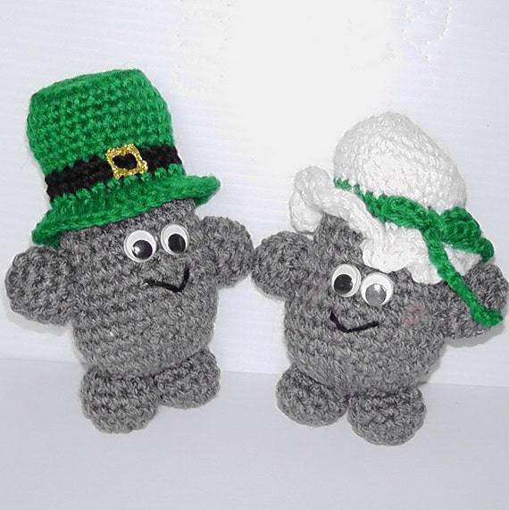 Crochet pattern, Rock People Irish Couple