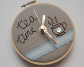 Tea Time Mini Wall Clock