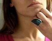 Shark Fin Labradorite Ring
