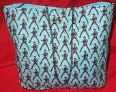 RESERVED elvis print purse -- more than a tote -- chain strap -- unique fabric and GREAT clearance price