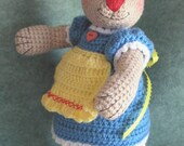 Toy Bear Dressed Like Rag Doll, Bearalyn McRaggle - Instant Download