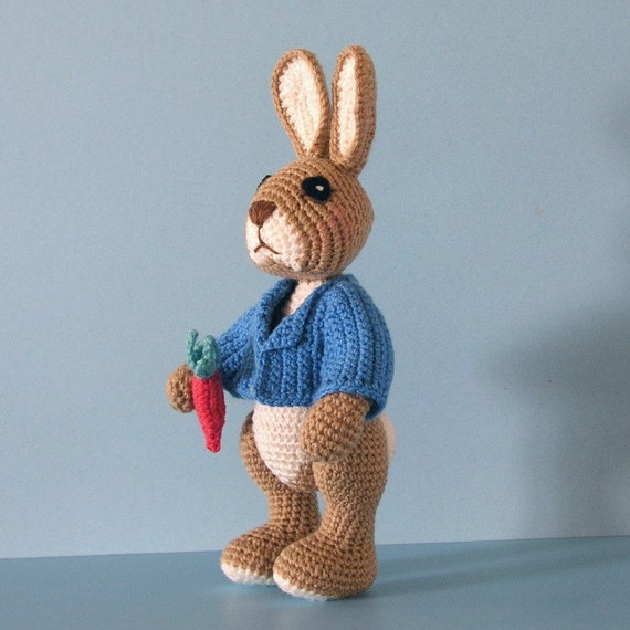 Amigurumi Peter Rabbit : Toy Bunny Rabbit Similar to Peter Rabbit by BluebearyTreasures