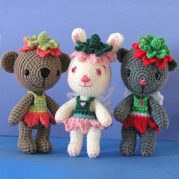 Amigurumi Flower Crochet Pattern : Crochet Pattern Amigurumi Flower Fairies
