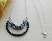 Black horseshoe necklace