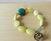 Teal oval bracelet