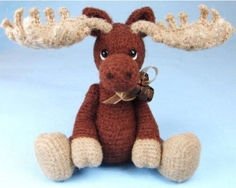 Miniature Thread Crochet Moose Pattern PDF Download