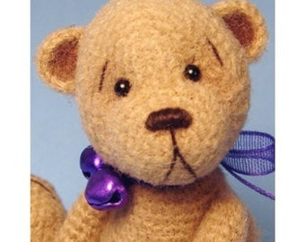 Simon Miniature Thread Crochet Bear Pattern PDF Download