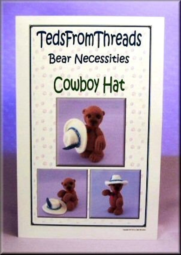 Crochet Mini Cowboy Hat Pattern : Miniature Crochet Cowboy Hat Pattern PDF by TedsFromThreads