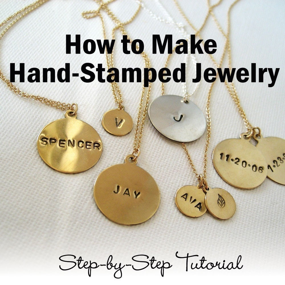 how to make hand stamped jewelry ebook tutorial pdf