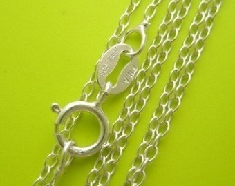 16 inch .925 sterling silver link chain lightweight necklace Perfect for my pendants 1.2mm dainty delicate