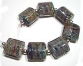 Multicolor Dreams  Lampwork Nugget Beads