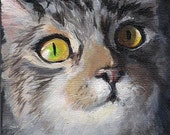 Gift Certificate for an Oil Painting of any pet, house, boat, bird - 5 x 7 oil painting Pet Portrait from photos