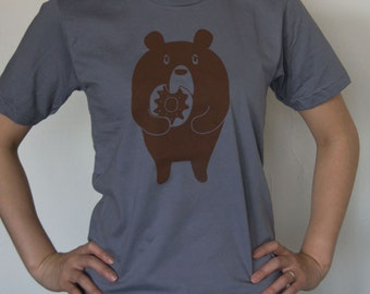 Donut Bear loves his donuts Bear Republic T-shirt Unisex size Available in XS, S
