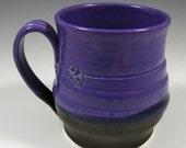 SALE Purple and Black Mug