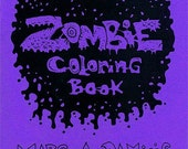 Zombie Coloring Book fun pack, lowbrow horror, monster art zine and more