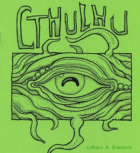 Cthulhu Coloring Book monster art zine H.P. Lovecraft