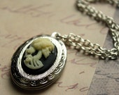 Lady Skeleton Cameo Locket