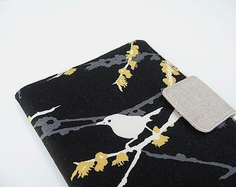 iPad Mini Cover Kindle Fire Cover Nook Simple Touch Cover Kobo Cover Case Joel Dewberry Aviary Sparrow Bird Black eReader