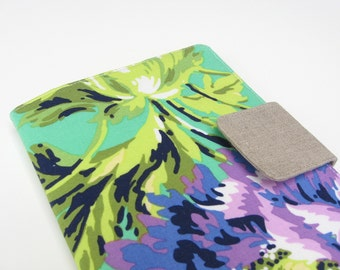 Nook Simple Touch Cover Kindle Fire Cover iPad Mini Cover Kobo Cover Case Amy Butler Love Purple and Green Floral Flowers eReader