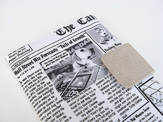 Dog Newspaper iPad Mini Cover Kindle Fire Voyage Samsung Galaxy Nook Simple Touch Glowlight Kobo Cover Case Canine Chronicle Funny Dog Story